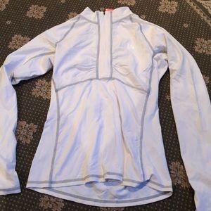 NEW The Northface white ½ zip top sz s